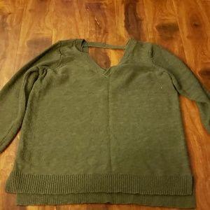 Torrid women's olive v-neck sweater